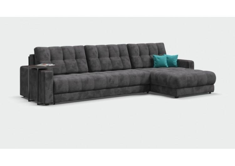 Угловой диван BOSS MAX велюр Alkantara серый