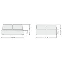 BOSS Mini диван NEW велюр Alkantara серый