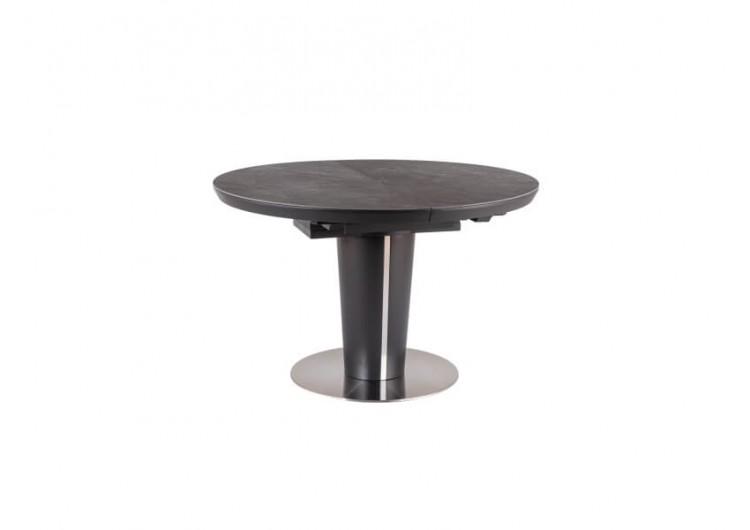 Стол обеденный Signal ORBIT 120 раскладной (серый керамический/матовый антрацит)