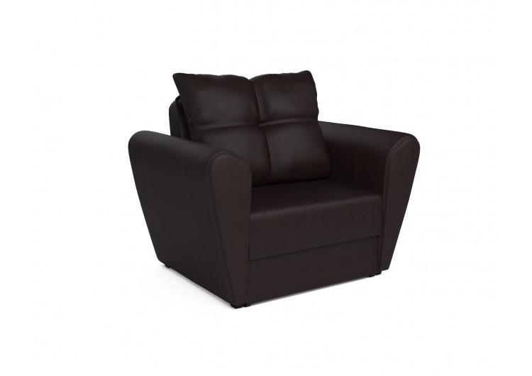 """Кресло-кровать """"Квартет - экокожа шоколад"""""""