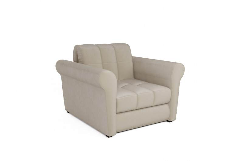 "Кресло-кровать ""Гранд (бархат бежевый / STAR VELVET 6 LIGHT BEIGE)"""