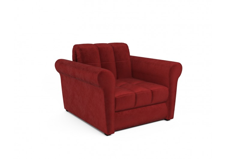 """Кресло-кровать """"Гранд (бархат красный / STAR VELVET 3 DARK RED)"""