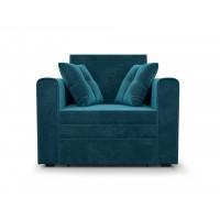Кресло-кровать Санта (бархат сине-зеленый STAR VELVET 43 BLACK GREEN)