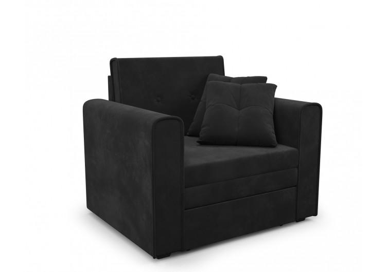 """Кресло-кровать """"Санта (велюр черный / НВ-178/17)"""""""