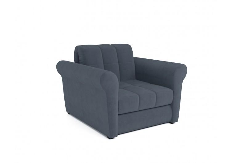 Кресло-кровать Гранд (велюр серо-синий / НВ-178/26)