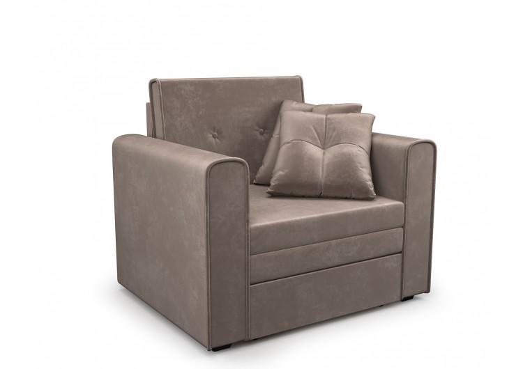 Кресло-кровать Санта (бархат серо-шоколадный STAR VELVET 60 COFFEE)