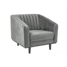 Кресло  ASPREY 1 Velvet Bluvel 14 (серый)