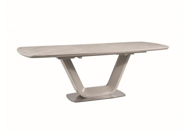 Стол обеденный Signal  ARMANI Ceramic 160 раскладной (серый мат)