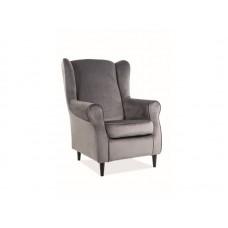Кресло SIGNAL BARON VELVET Bluvel14, серый NEW 2