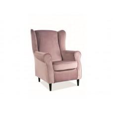 Кресло SIGNAL BARON VELVET Bluvel52, античный розовый NEW 2