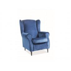 Кресло  BARON Velvet Bluvel 86 (темно-синий)