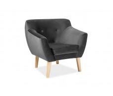 Кресло SIGNAL BERGEN 1 VELVET Bluvel14, серый