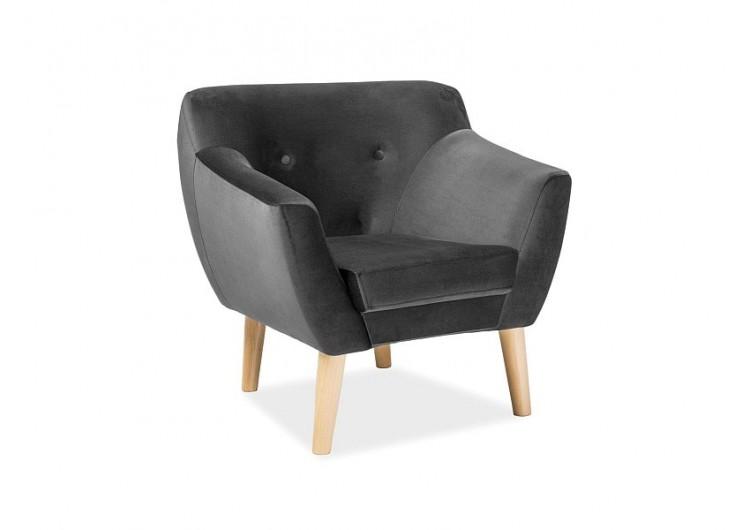 Кресло  BERGEN 1 Velvet Bluvel 14 (серый)