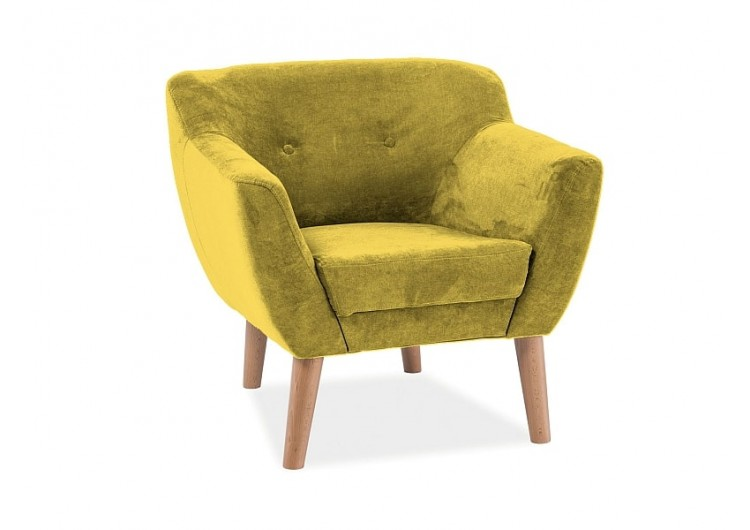 Кресло SIGNAL BERGEN 1 ткань 1609, желтый