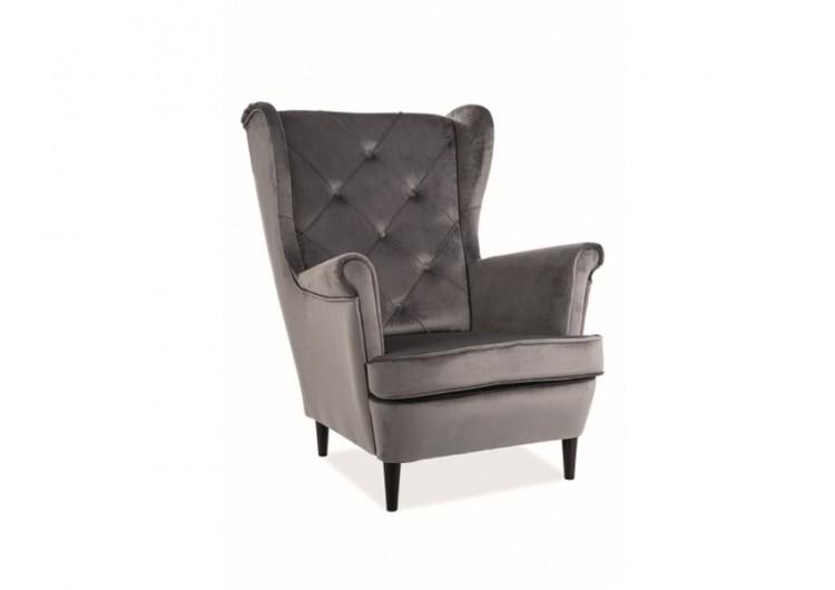 Кресло SIGNAL LADY VELVET Bluvel14, серый NEW 2