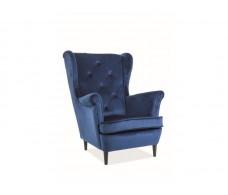Кресло SIGNAL LADY VELVET Bluvel86, темно-синий NEW 2