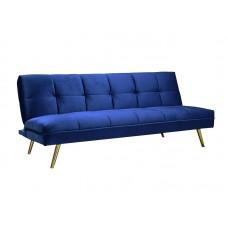 Диван  MORITZ Velvet (темно-синий/золотой)