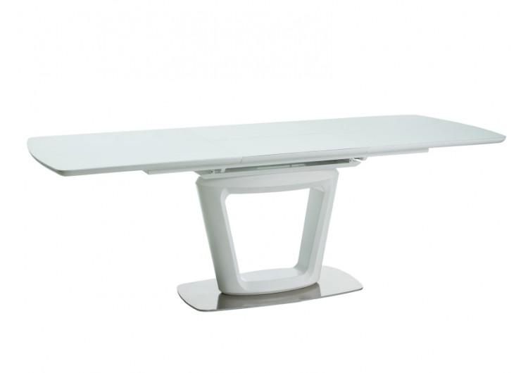 Стол обеденный Signal  CLAUDIO II 160 раскладной (белый матовый)