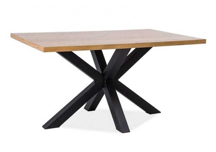 Стол обеденный Signal CROSS 180 (дуб натуральный/черный)