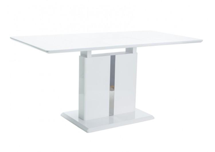 Стол обеденный Signal DALLAS 110 раскладной (белый лак)
