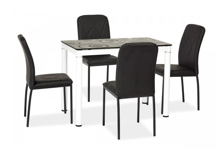 Стол обеденный Signal DAMAR (черно-белый) 100