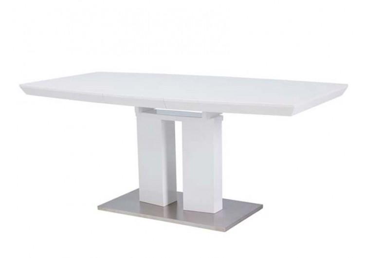 Стол обеденный Signal DIVANI 140 раскладной (белый лак)
