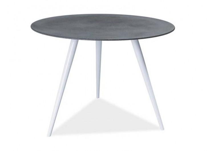 Стол обеденный Signal EVITA 100 (серый/белый)