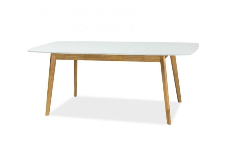 Стол обеденный Signal FELICIO II 150 раскладной (белый/дуб)