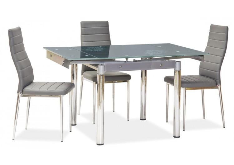 Стол обеденный Signal GD-082 80 раскладной (серый)