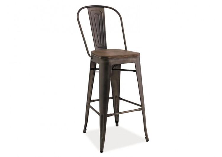 Барный стул Signal LOFT H-1 (темный орех/графит)