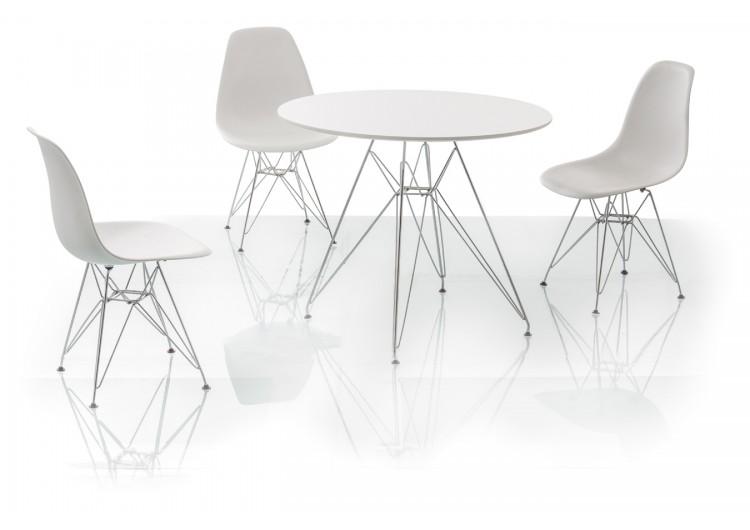 Стол обеденный Signal NITRO 90 (белый)