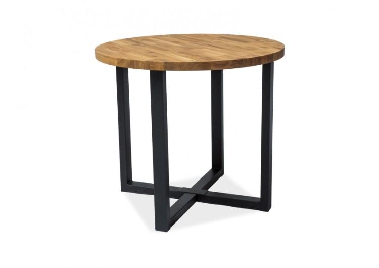 Стол обеденный Signal ROLF 90 (дуб натуральный/черный)