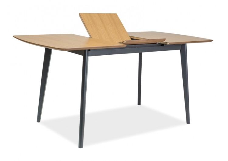 Стол обеденный  VITRO II 120 раскладной (дуб/графит)