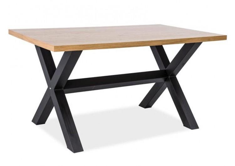 Стол обеденный Signal XAVIERO 180 (дуб натуральный/черный)