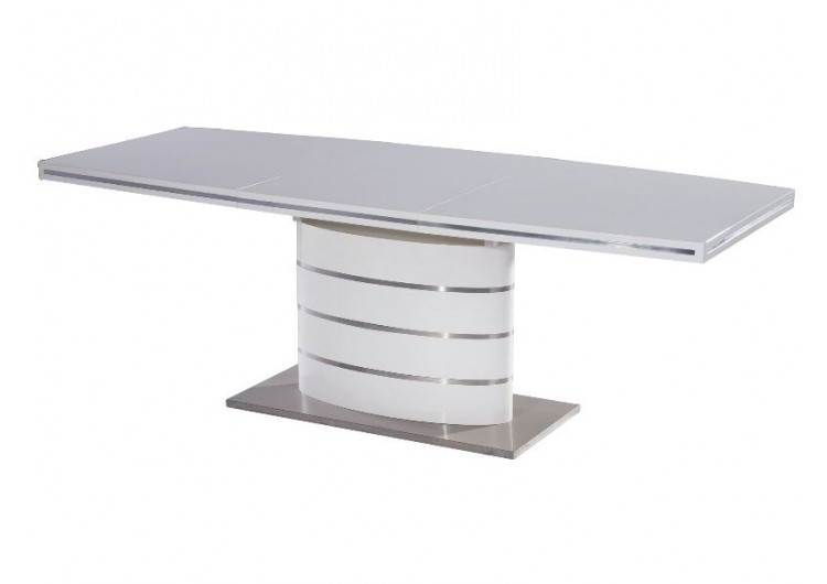 Стол обеденный Signal FANO 120 раскладной (белый лак)