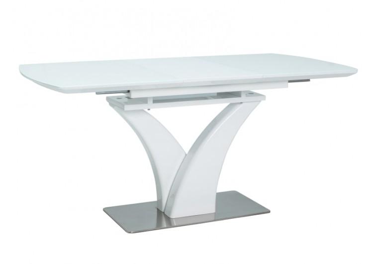 Стол обеденный Signal FARO 120 раскладной (белый лак)