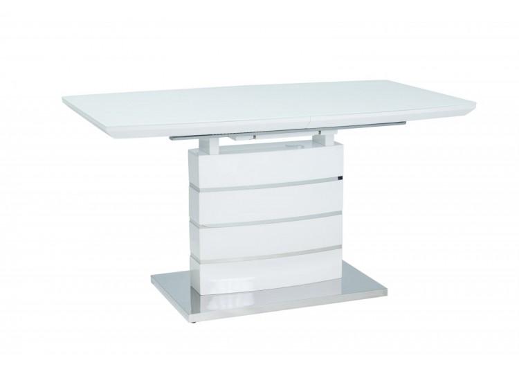 Стол обеденный Signal  LEONARDO 140 раскладной (белый лак)