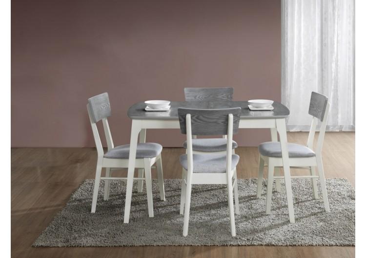 Стол обеденный Signal  RIMINI 120 раскладной (серый/белый)