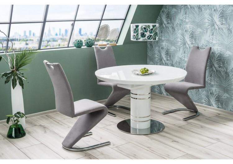 Стол обеденный Signal  STRATOS 120 раскладной (белый лак)