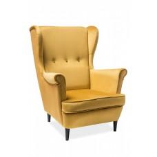 Кресло SIGNAL LORD VELVET Bluvel68, карри NEW