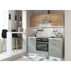 Кухня ДСВ Мебель Дуся-2 1,6м Дуб бунратти\Цемент