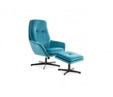 Комплект SIGNAL FORD VELVET BLUVEL 85 (кресло+подставка для ног) бирюзовый