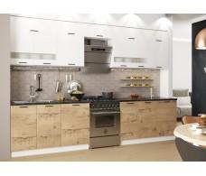 Модульная кухня Дуся Белый бриллиант\Дуб бунратти