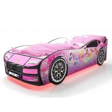 Детская кровать машина Турбо Фея с подъемным матрасом