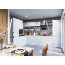 Кухня ДСВ Мебель Вариант фасада Скала Мрамор Арктик