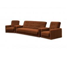 Диван Милан + 2 кресла коричневый