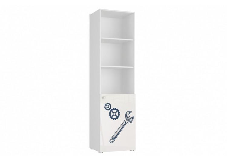 Шкаф 1-дверный с полками Модерн - Квадро