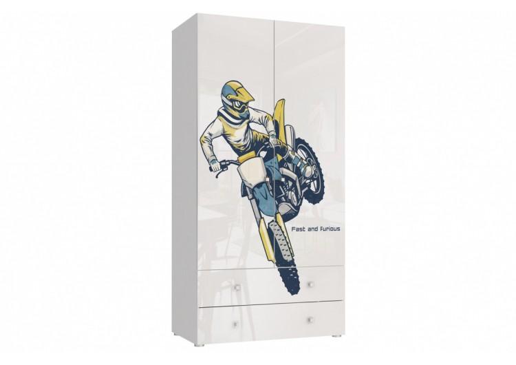 Шкаф 2-х дверный с ящиками Модерн - Квадро