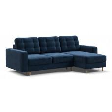 Угловой диван BOSS SKANDY велюр Monolit синий