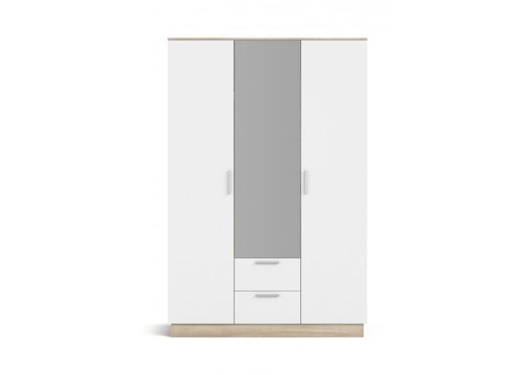 Шкаф РИМ-150 сонома, белый снег